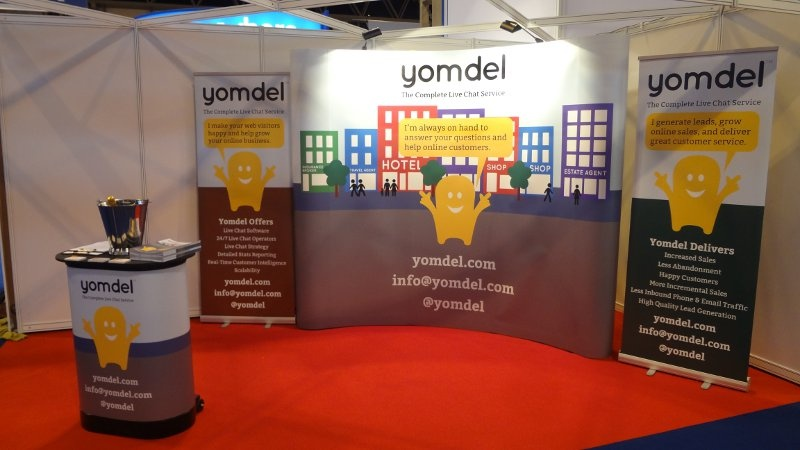 Yomdel stand at the Internet Retailing Expo 2013