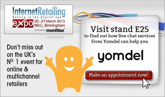 Come and meet Yomdel at the Internet Retailing Expo