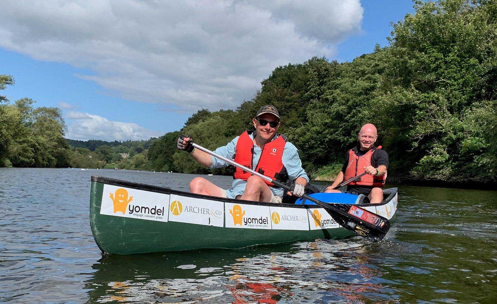 Andy Soloman & Iain McKenzie in the Yomdel canoe